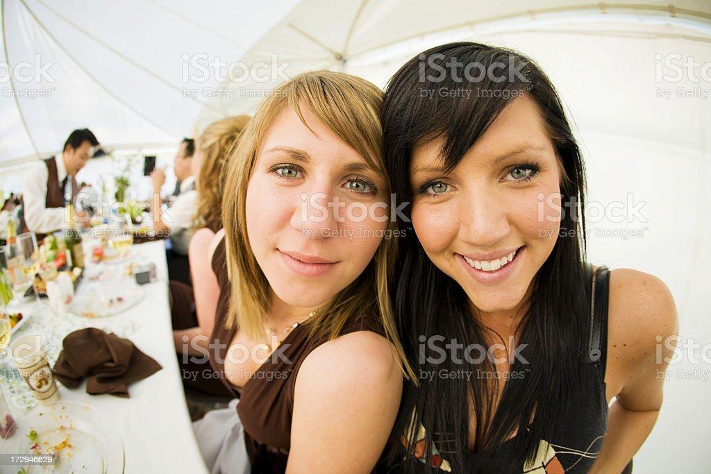 Cousins at wedding stock photo