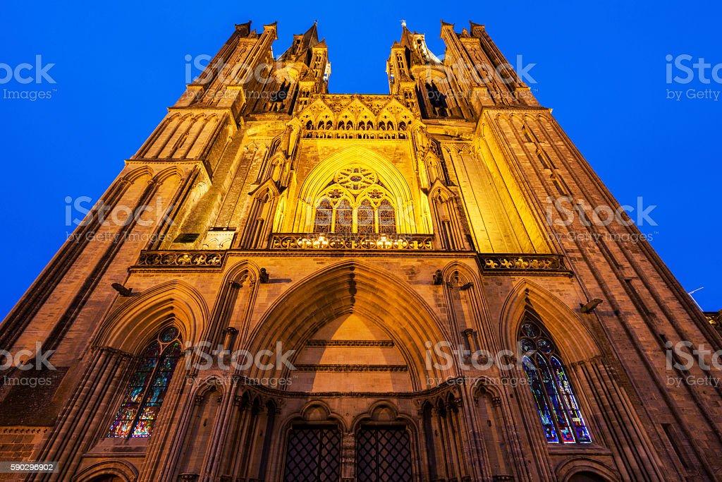Coutances Cathedral royaltyfri bildbanksbilder