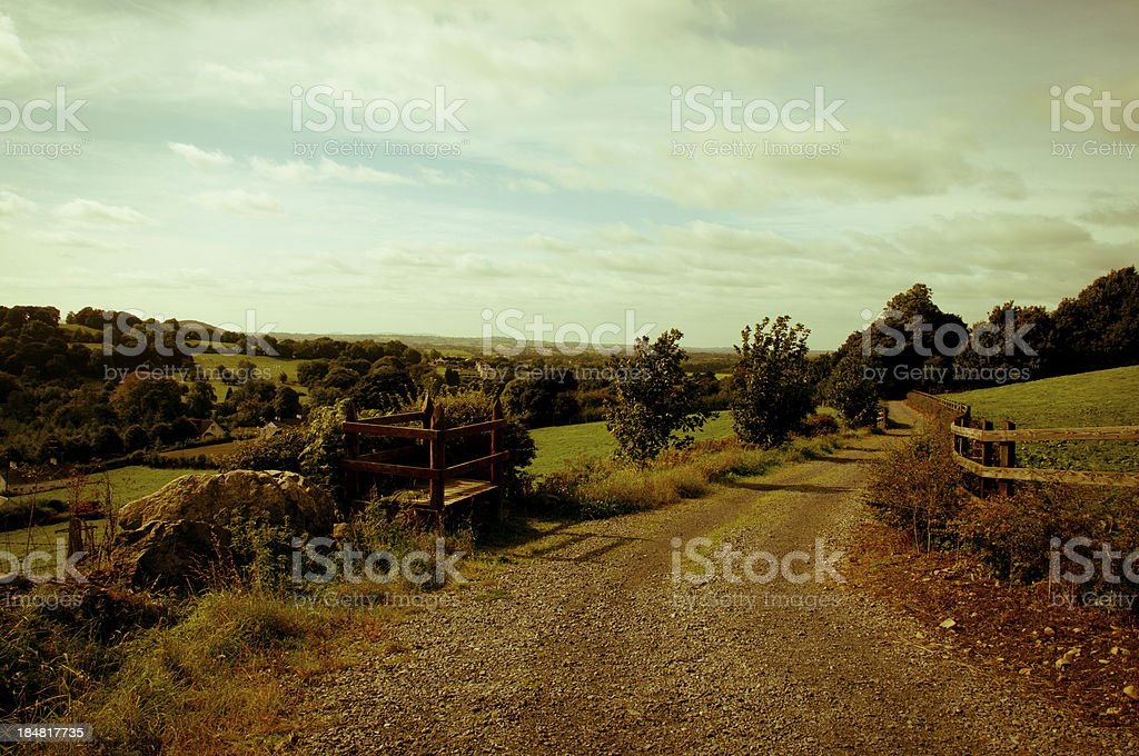 Coutry road stock photo