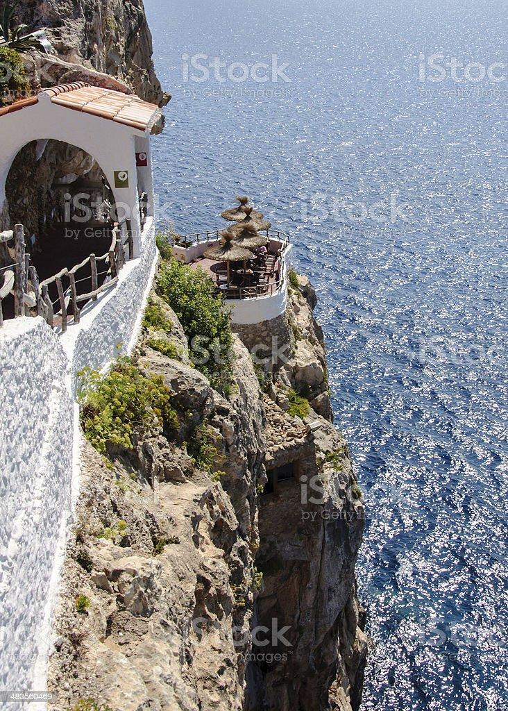 Cova d'en Xoroi, Minorca,Balearic islands, Spain stock photo