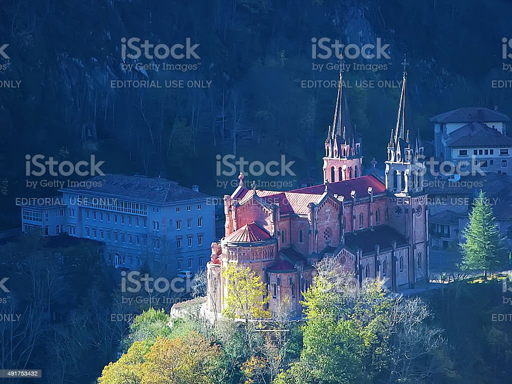 Covadonga, Asturias, Spain stock photo