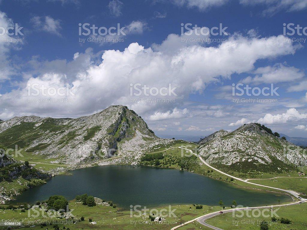 Covadonga Lakes royalty-free stock photo