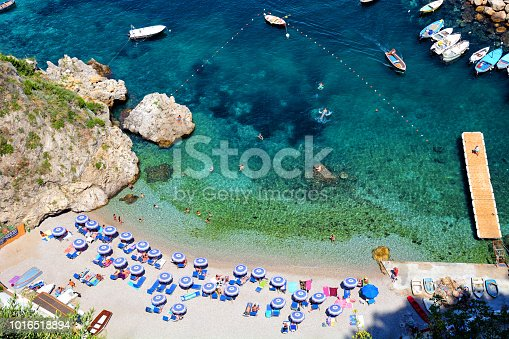 Aerial view of beautiful cove at the Amalfi Coast in Italy