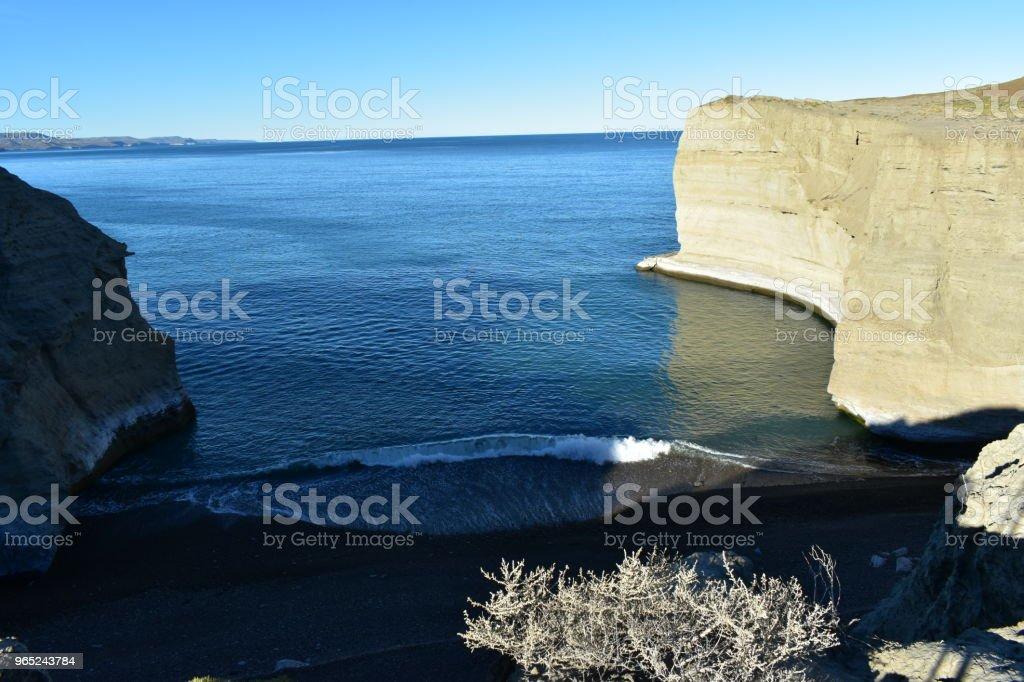 Cove in the ocean coastline zbiór zdjęć royalty-free