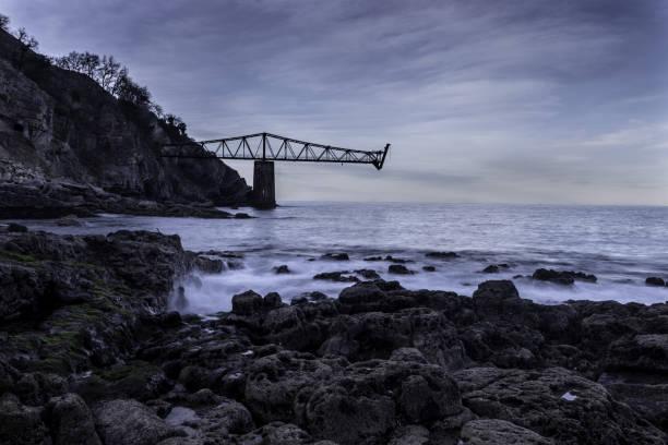 Cove of Mioño stock photo