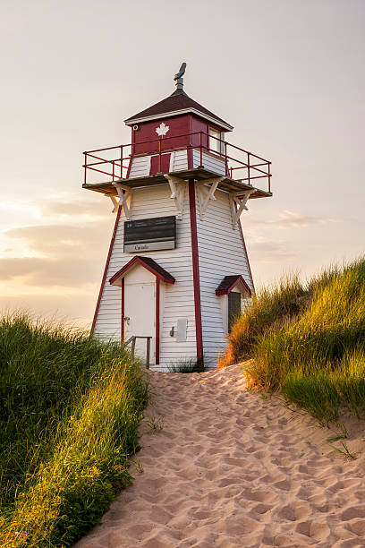 covehead harbour lighthouse, pei - prince edward island stock photos and pictures