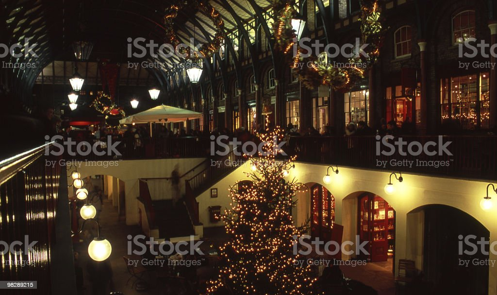Covent Garden a notte. Londra. Inghilterra foto stock royalty-free