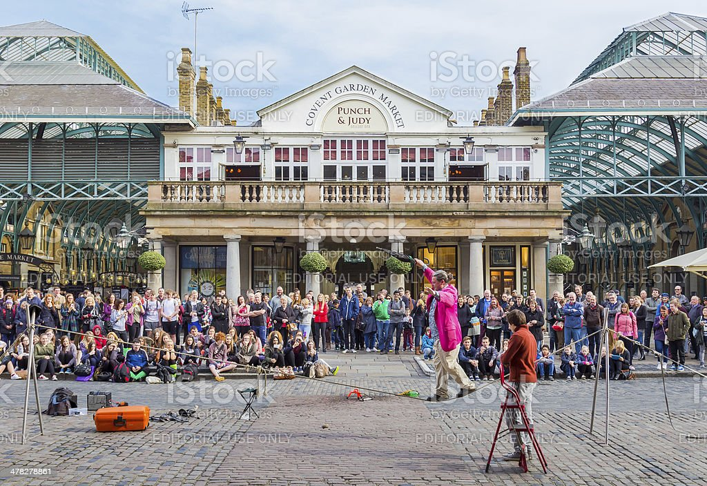 Covent Garden Entertainer - foto de stock