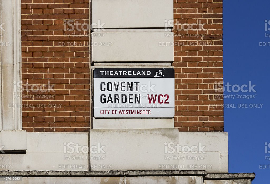 Covent Garden Sign in London royalty-free stock photo