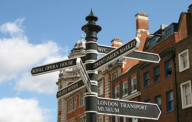 Covent Garden Signpost stock photo
