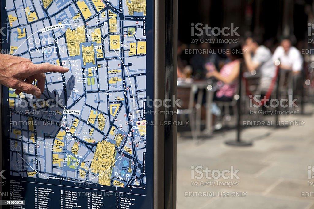 Covent Garden - Street Map, London (XXXL) stock photo