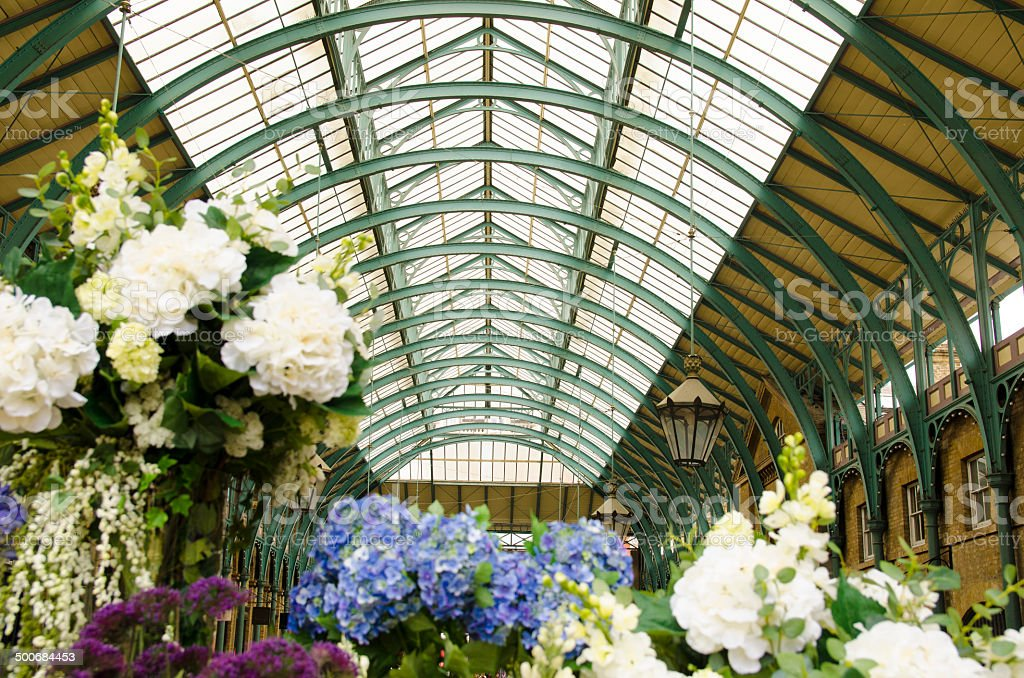Covent Garden With Flowers In London Stock Photo & More Pictures of ...