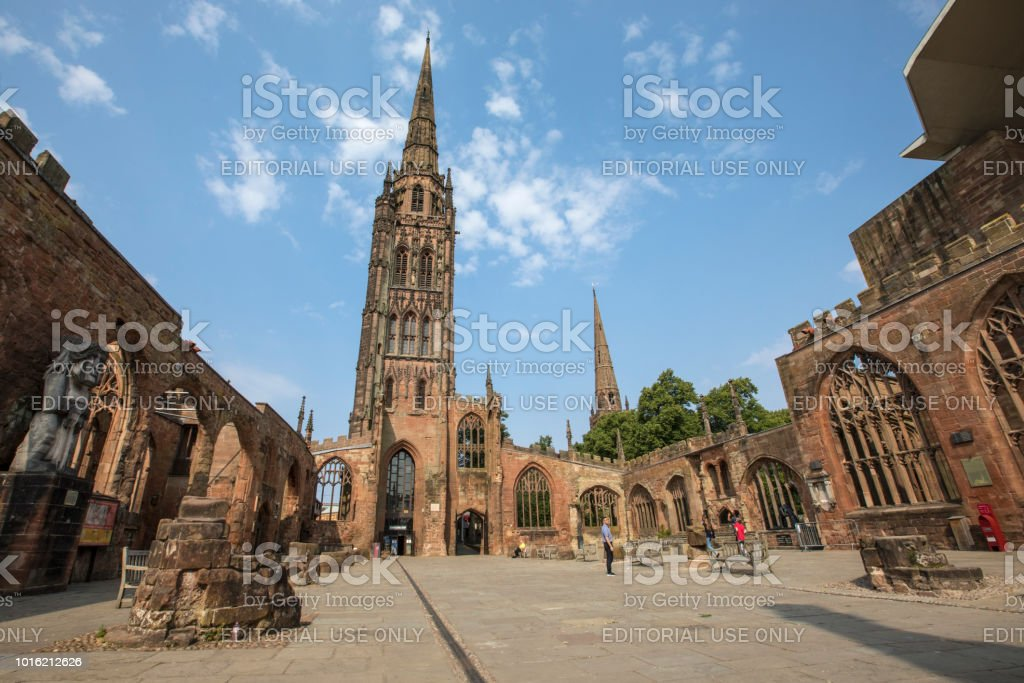 Coventry Cathedral in the UK stock photo