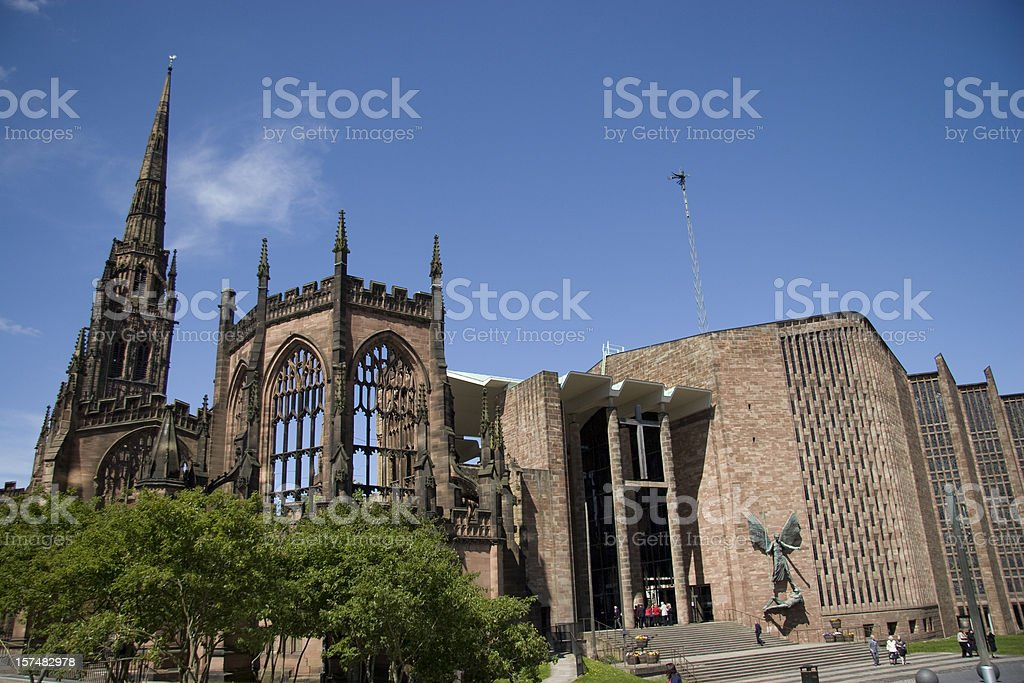 Coventry Cathedral - Old and New royalty-free stock photo