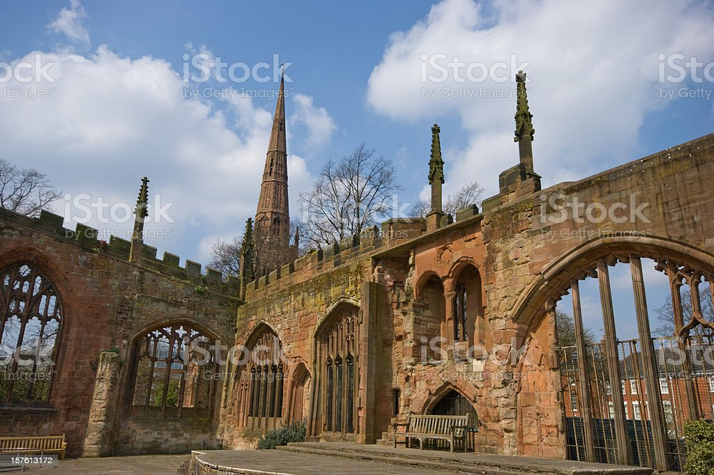 Coventry Cathedral ruins royalty-free stock photo