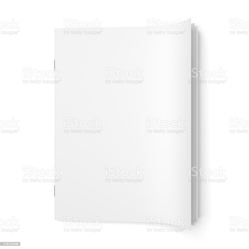 Cover empty magazine blank stock photo