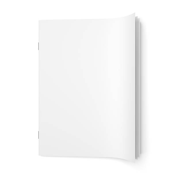 Cover empty magazine blank Top view of cover empty magazine blank isolated on white background workbook stock pictures, royalty-free photos & images
