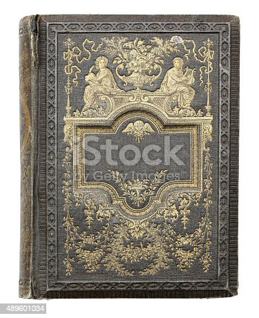 istock cover of an old book. 489601034