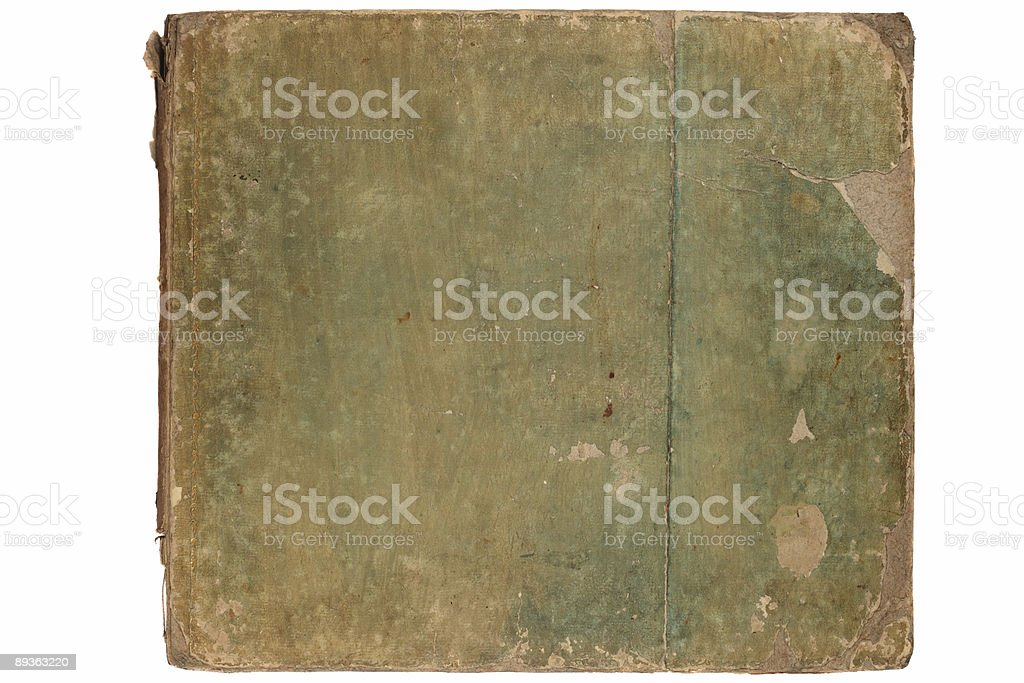 Cover of old book royalty-free stock photo