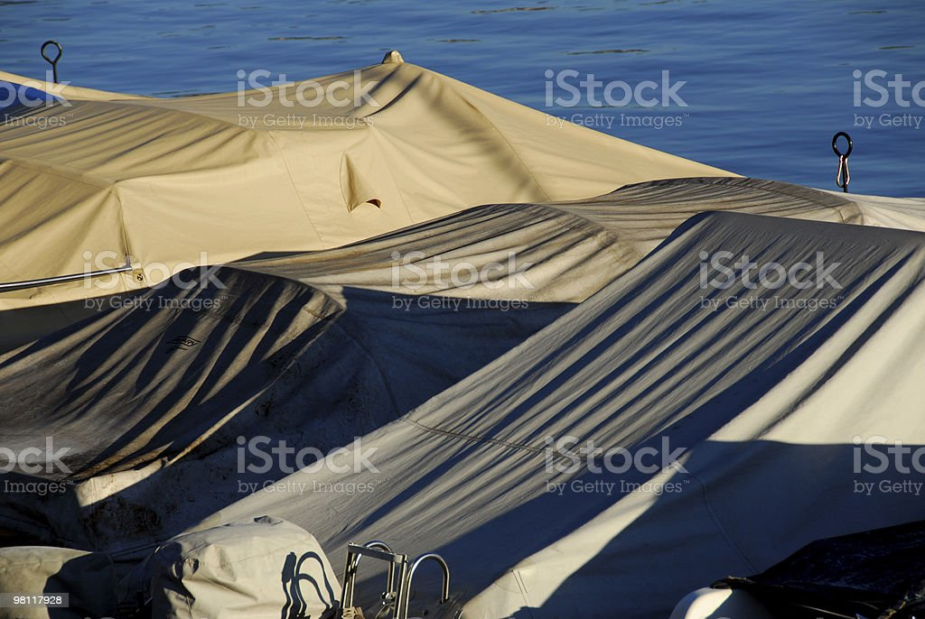 Cover On Boat royalty-free stock photo