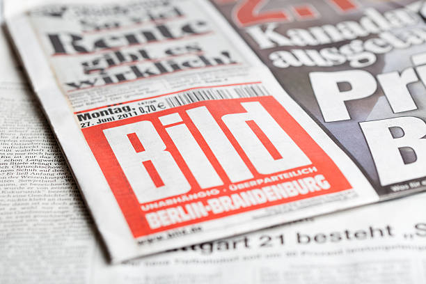 Cover page of Bild-Zeitung stock photo