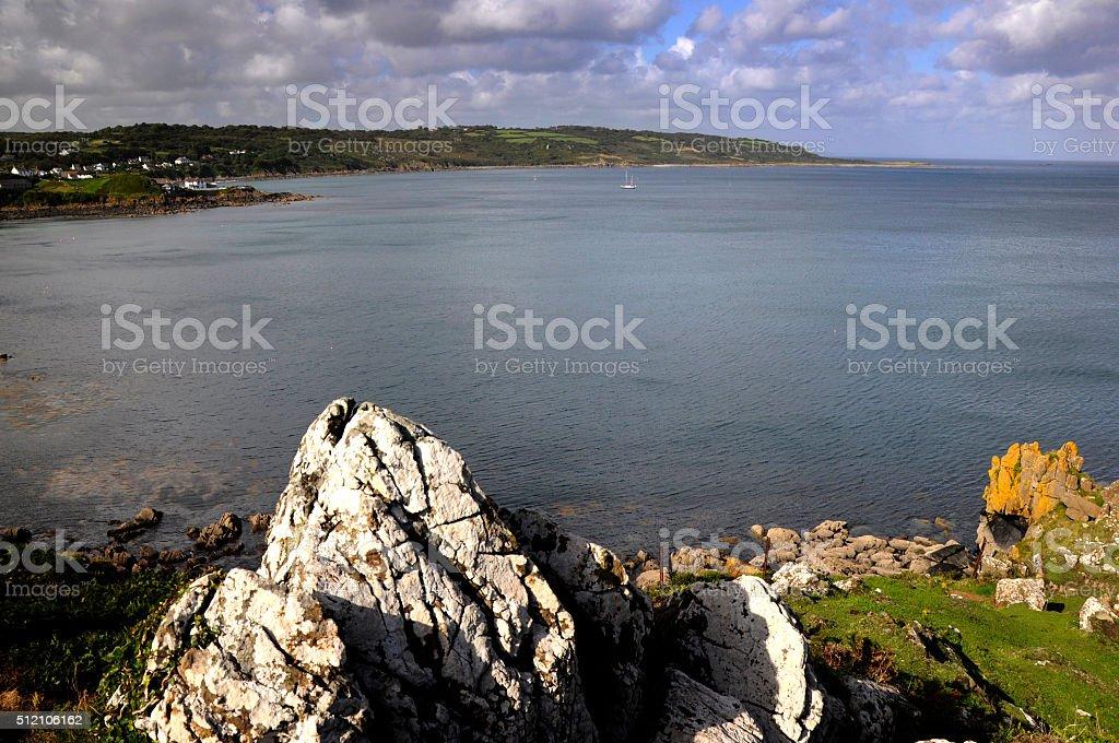 Coverack Bay stock photo