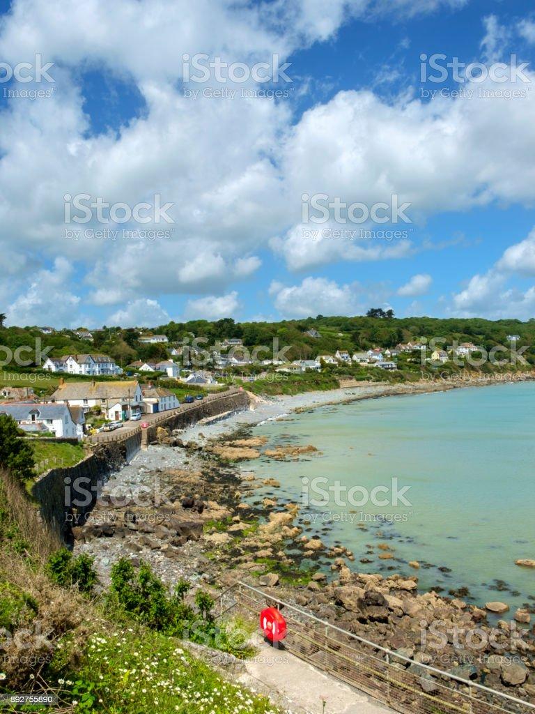 Coverack village in the Lizard Peninsula, Cornwall, UK stock photo