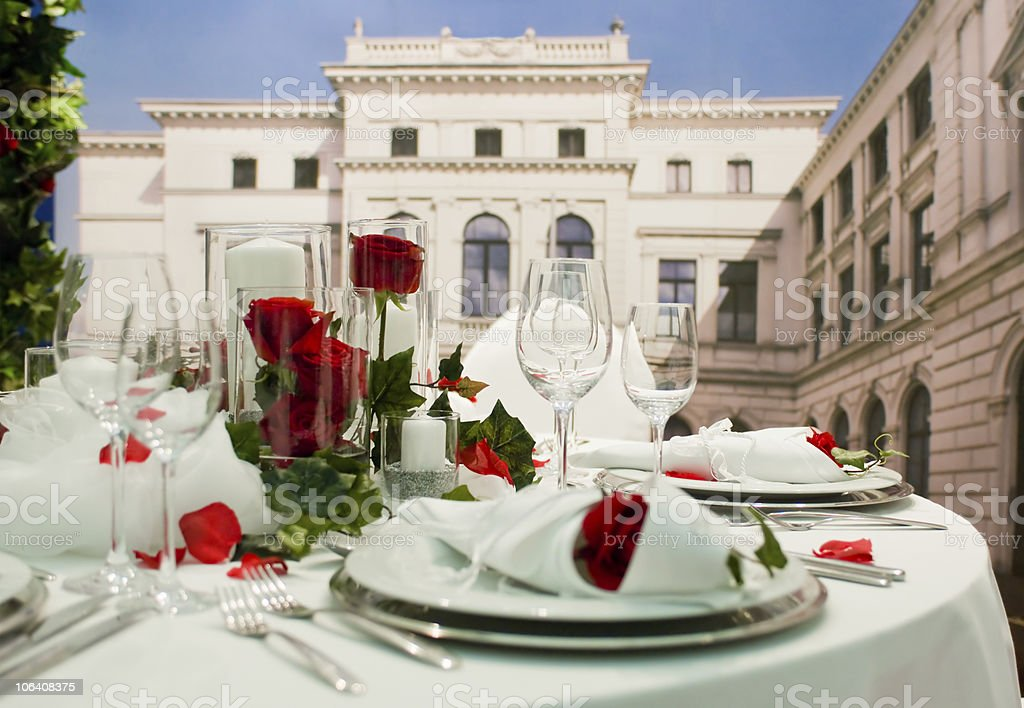 Covered banquet royalty-free stock photo