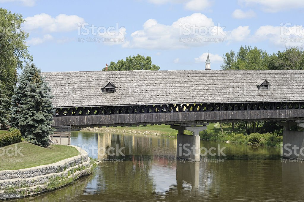 Covered Bridge, Frankenmuth, Michigan royalty-free stock photo