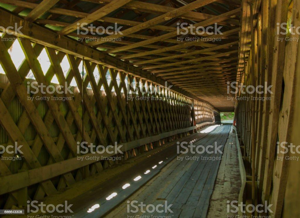 Covered Bridge in Alabama stock photo