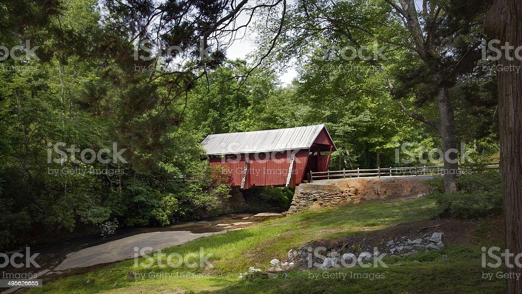 Covered Bridge in South Carolina stock photo