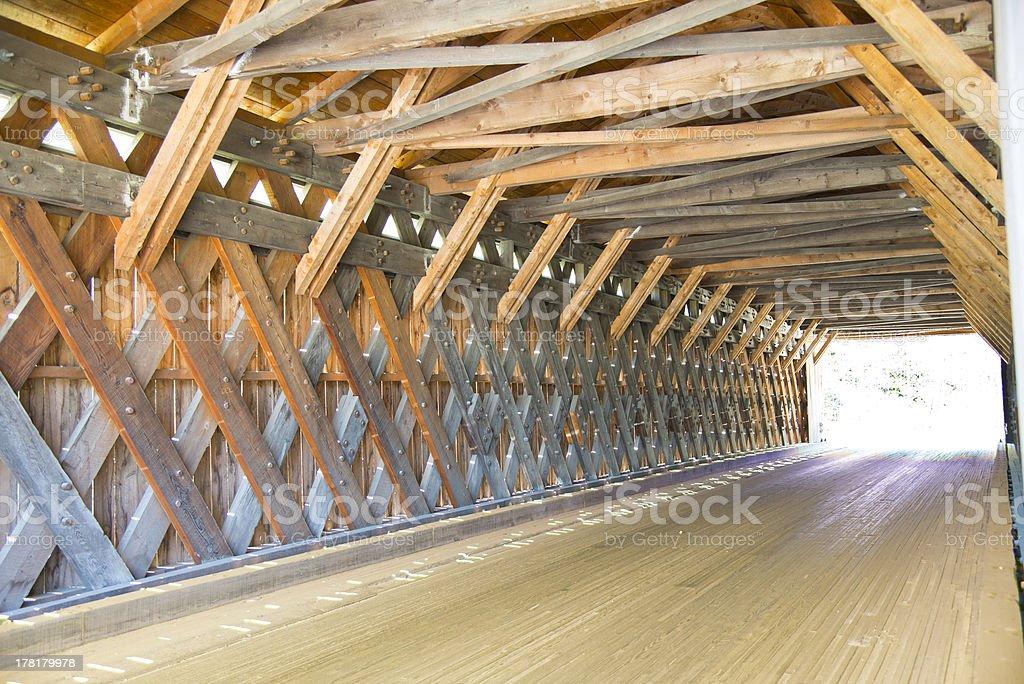 Covered Bridge lattice construction royalty-free stock photo
