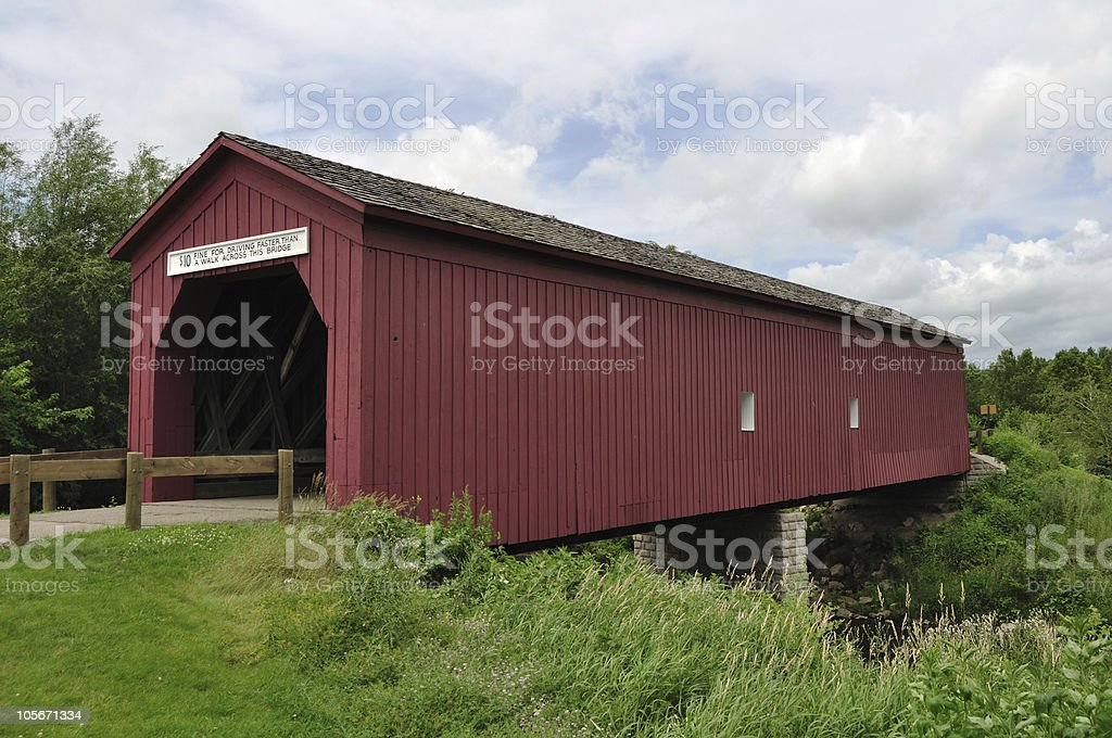 Covered Bridge stock photo