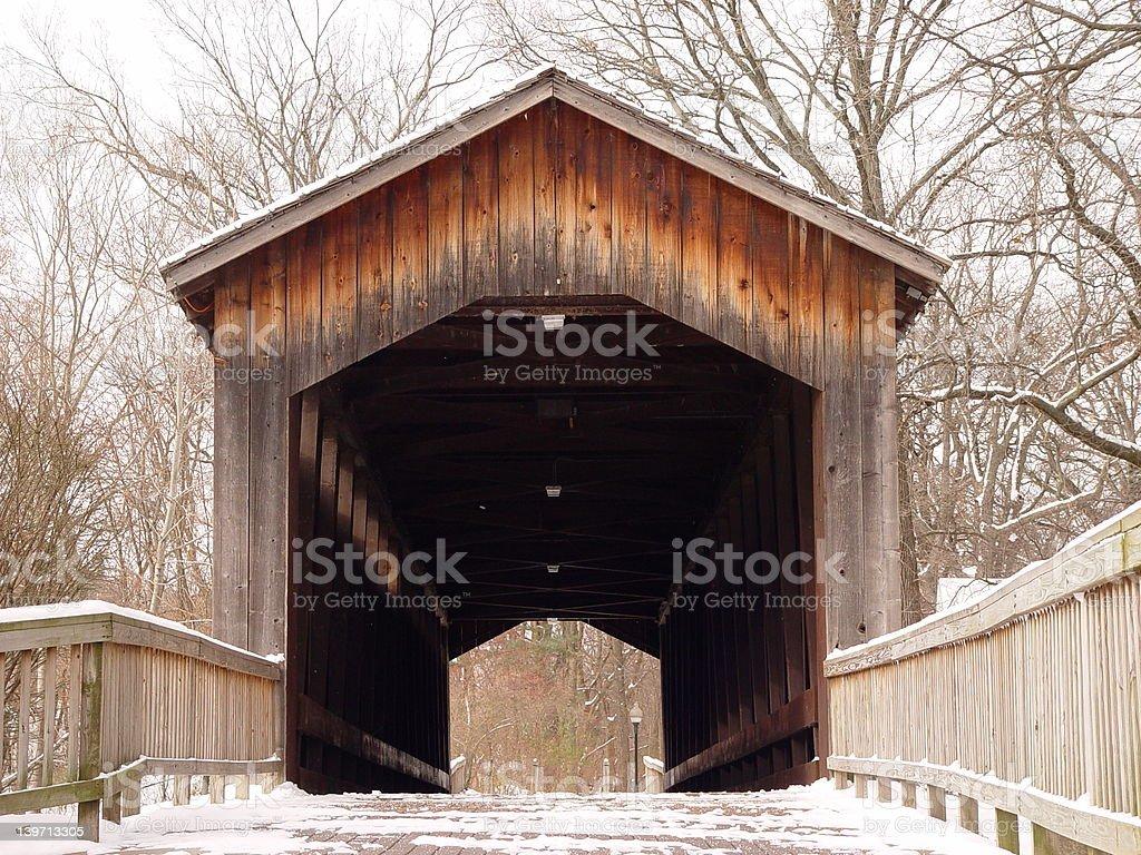 Covered Bridge royalty-free stock photo