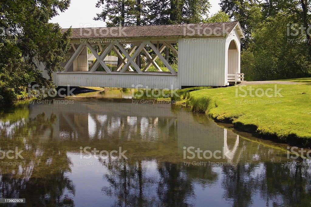 Covered Bridge, Southern Oregon royalty-free stock photo