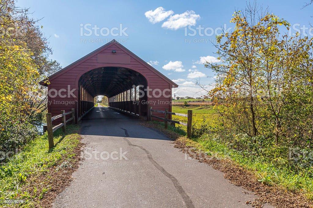 Covered Bridge Trail zbiór zdjęć royalty-free