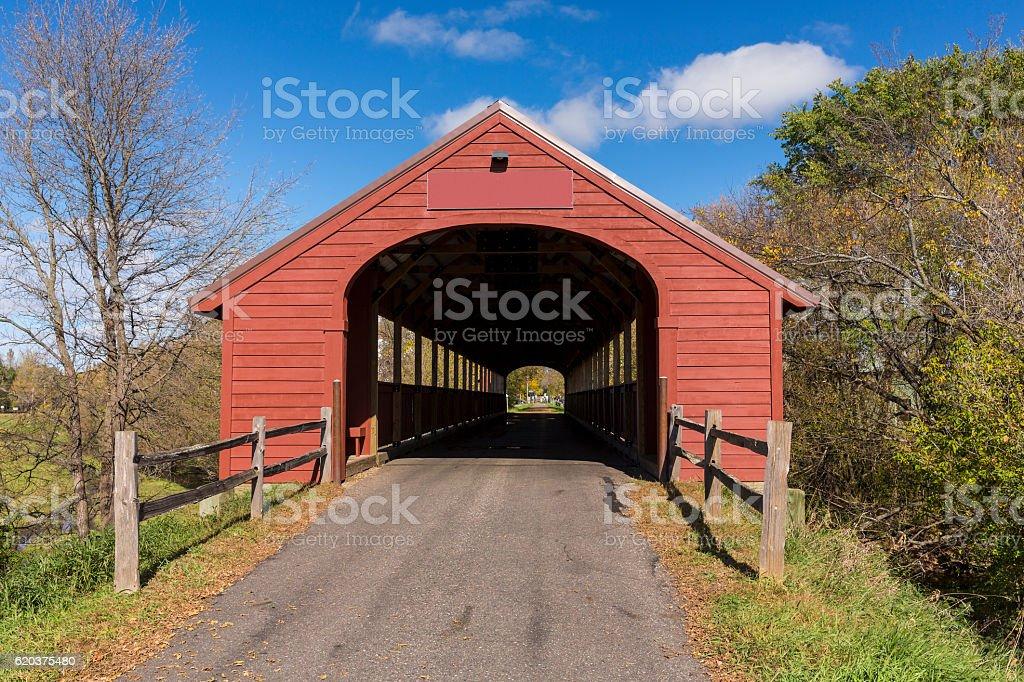 Covered Bridge Trail foto de stock royalty-free