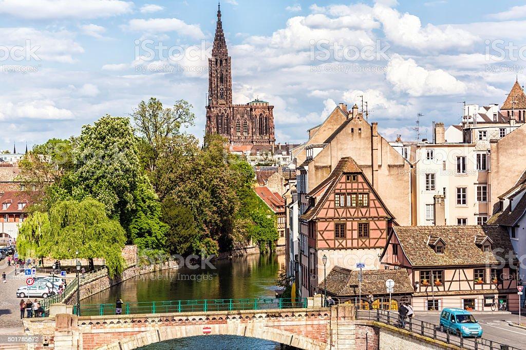 Überdachte Brücken (überdachte Brücke) in Straßburg, Frankreich – Foto