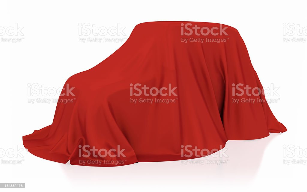 Covered car royalty-free stock photo