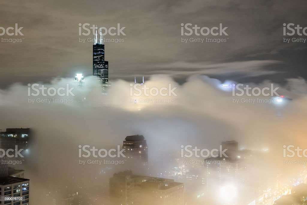 Covered Chicago stock photo