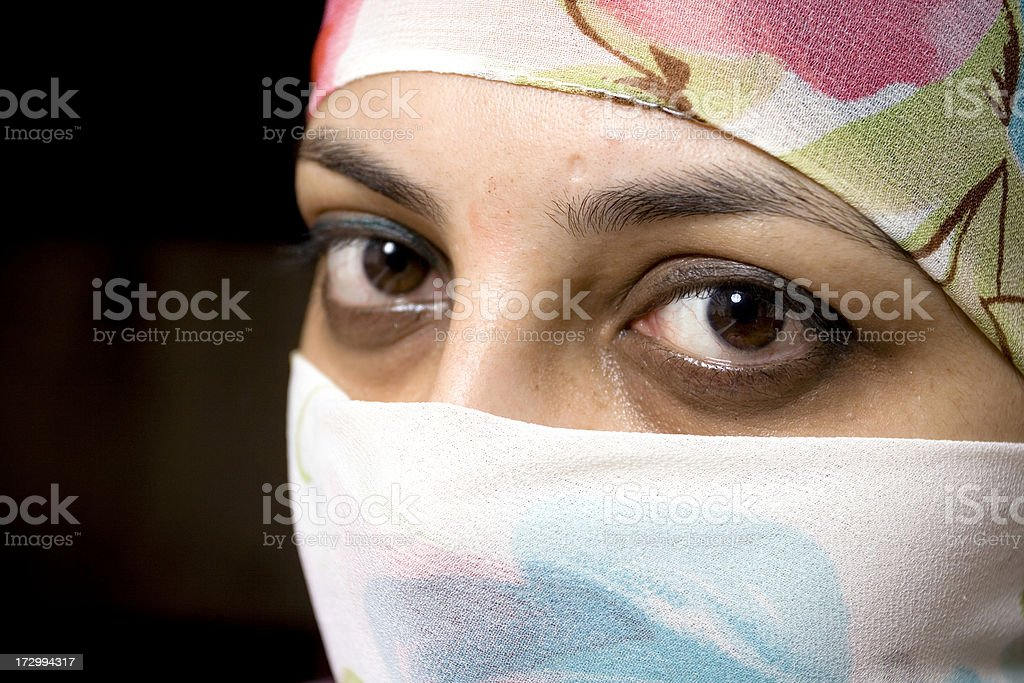 Covered Face royalty-free stock photo