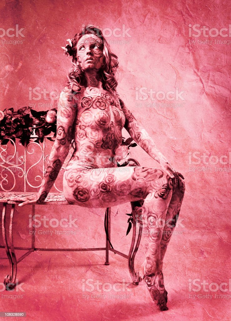 Covered in Roses royalty-free stock photo