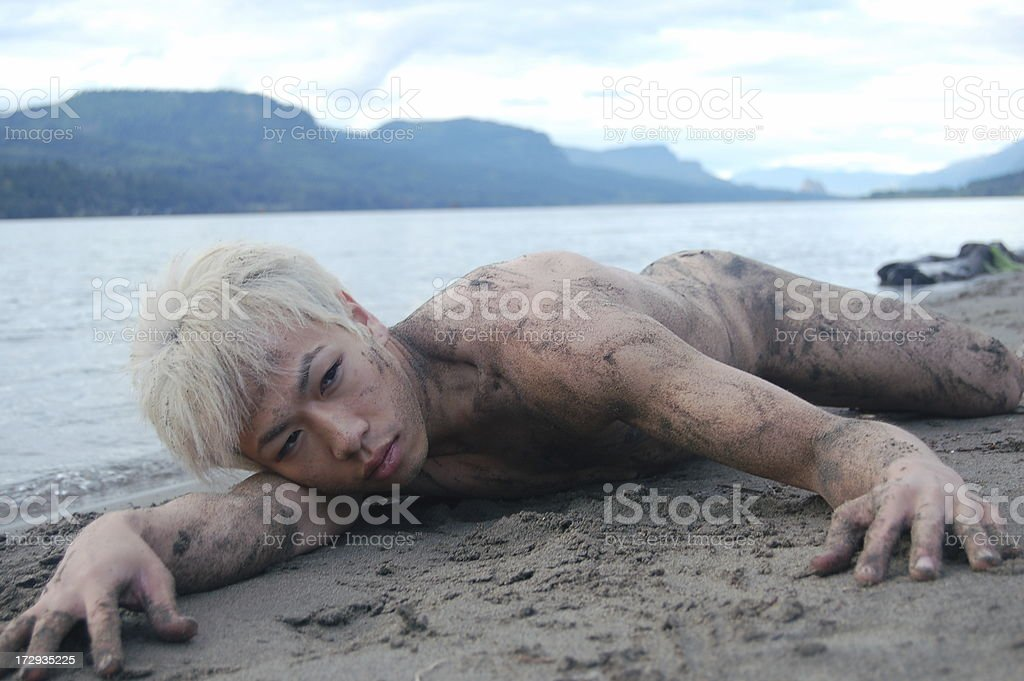 Covered in Sand royalty-free stock photo