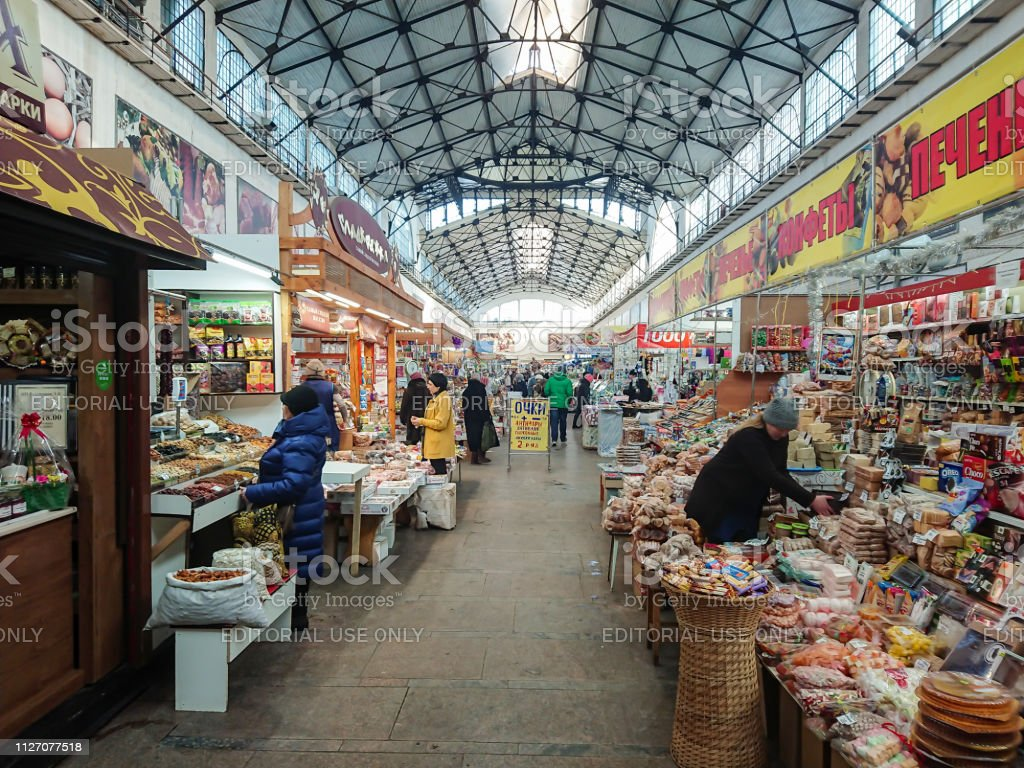 Covered market. Ancient building, built in 1916. Sale of various food...