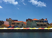 View Across the Harbour of the Covered Market in Willemstad