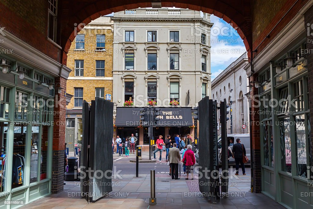 Covered Old Spitalfields Market in Tower Hamlets, London stock photo