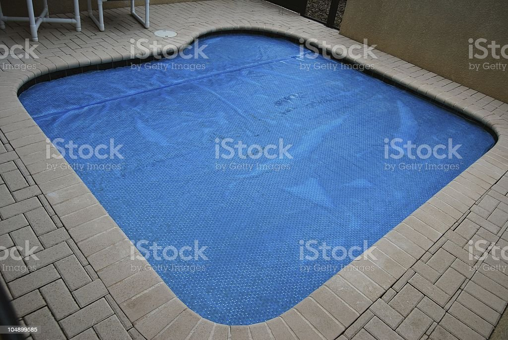 Covered private pool stock photo