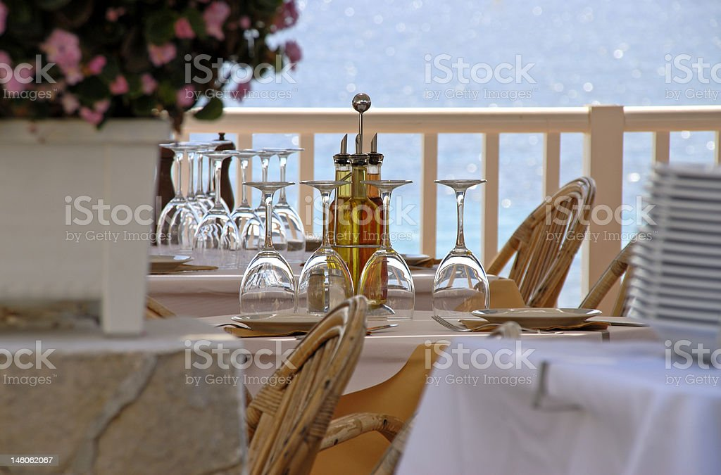 Covered Table royalty-free stock photo