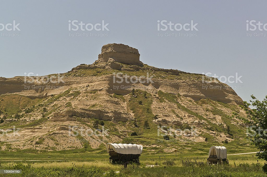 Covered Wagons stock photo