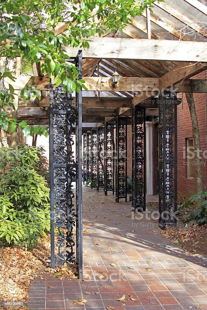 Covered walk. royalty-free stock photo